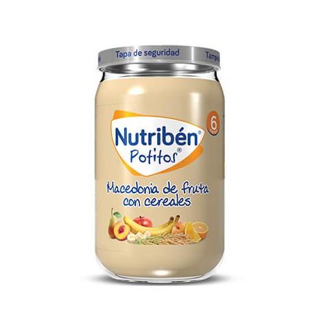 NUTRIBEN POTITO DE MACEDONIA DE FRUTAS CON CEREALES 235 G