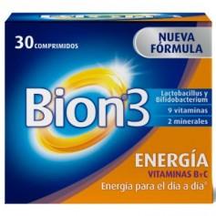 BION 3 ENERGIA MINERALES Y VITAMINAS B Y C 30 COMPRIMIDOS