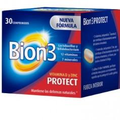 BION 3 PROTECT MINERALES, VITAMINAS Y LACTOBACILLUS 30 COMPRIMIDOS