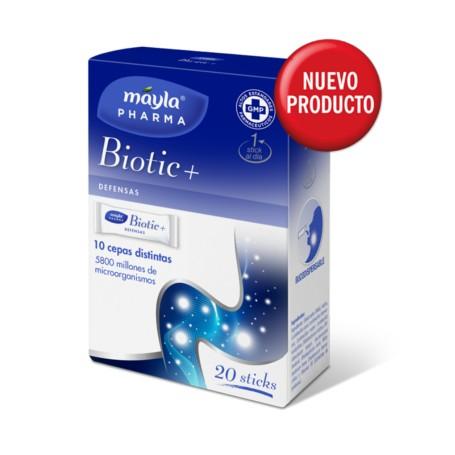 MAYLA BIOTIC+ 10 STICKS BUCODISPERSABLES 10 CEPAS DEFENSAS PROBIOTICO