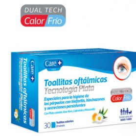 CARE+ TOALLITAS OFTALMICAS TECNOLOGIA PLATA CALOR FRIO 30 UNIDADES