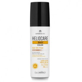 HELIOCARE 360 GEL OIL FREE FACIAL FOTOPROTECTOR SOLAR SPF50 COLOR BEIGE 50 ML