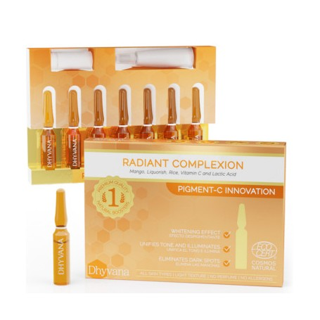 DHYVANA RADIANT COMPLEXION WHITENING EFFECT 7 AMPOLLAS