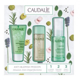 CAUDALIE PACK VINOPURE SERUM 30 ML +GEL LIMPIADOR 30 ML+LOCION PURIFICANTE 50 ML
