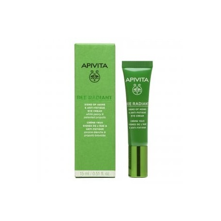 APIVITA BEE RADIANT CONTORNO OJOS ILUMINADOR DEFENSA ANTIEDAD 15 ML