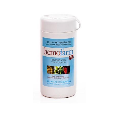 HEMOFARM PLUS 60 TOALLITAS HIGIENE HEMORROIDES BOTE