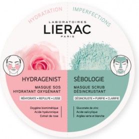 LIERAC DUO MASK MASCARILLAS HYDRAGENIST-SEBOLOGIE 2X6 ML