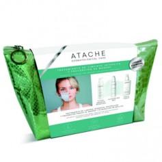 ATACHE PACK LIMPIEZA INTENSIVA MASKNE MAKEUP REMOVER ACEITE 115 ML+CLEANSING GEL 115 ML+ TONICO 200 ML