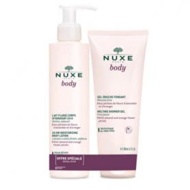 NUXE PACK BODY LECHE CUERPO 24 HORAS PIEL SECA 400 ML+ GEL DE DUCHA FUNDENTE 200 ML