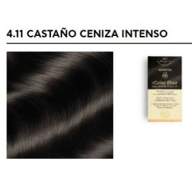 APIVITA COLOR ELIXIR TINTE PERMANENTE 4.11 BROWN INTENSE ASH CASTAÑO CENIZA INTENSO