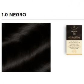 APIVITA COLOR ELIXIR TINTE PERMANENTE 1.0 BLACK NEGRO