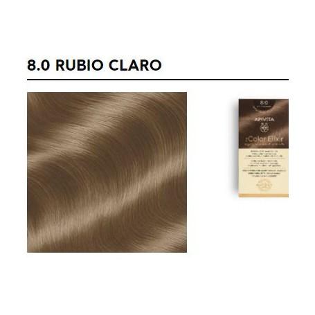 APIVITA COLOR ELIXIR TINTE PERMANENTE NATURAL 8.0 RUBIO CLARO LIGHT BLOND