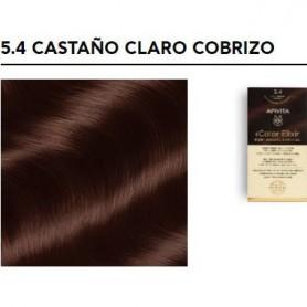 APIVITA COLOR ELIXIR TINTE PERMANENTE 5.4 LIGHT BROWN COPPER CASTAÑO CLARO COBRIZO