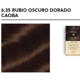 APIVITA COLOR ELIXIR TINTE PERMANENTE 6.35 DARK BLONDE GOLD RUBIO OSCURO DORADO CAOBA