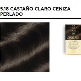 APIVITA COLOR ELIXIR TINTE PERMANENTE 5.18 LIGHT BROWN ASH CASTAÑO CLARO CENIZA PERLADO
