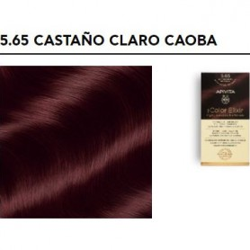 APIVITA COLOR ELIXIR TINTE NATURAL PERMANENTE 5.65 LIGHT BROWN RED MAHOGANY