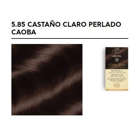 APIVITA COLOR ELIXIR TINTE NATURAL PERMANENTE 5.85 LIGHT BROWN PEARL MAHOGANY