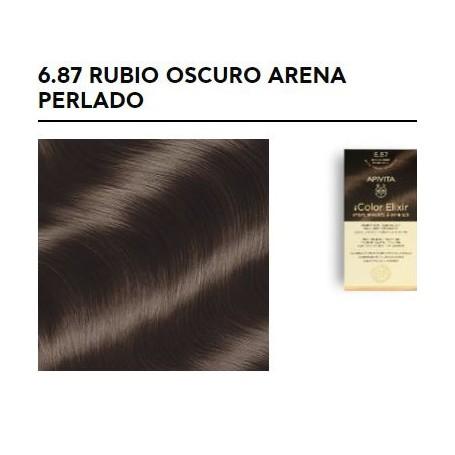 APIVITA COLOR ELIXIR TINTE PERMANENTE NATURAL 6.87 DARK BLONDE PEARL SAND