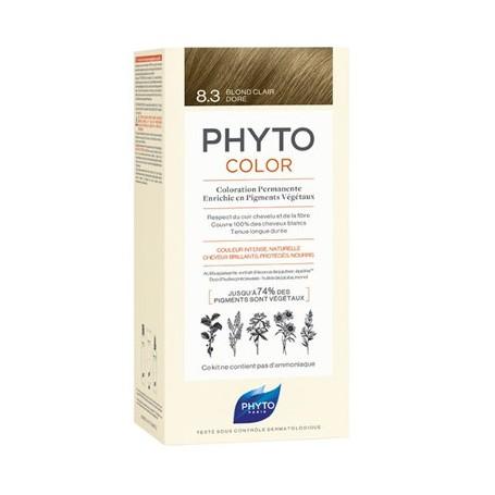 PHYTO PHYTOCOLOR TINTE VEGETAL 8.3 RUBIO CLARO DORADO