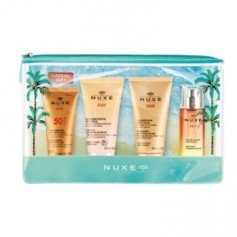 NUXE SUN PACK SOLAR CREMA PROTECTORA FACIAL 30 ML+GEL DE DUCHA 50 ML+LECHE AFTER SUN 50 ML+AGUA DELICIOSA PERFUMADA 30 ML