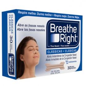 BREATHE RIGHT TIRAS NASALES PEQUEÑAS/MEDIANAS 30 UNIDADES