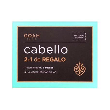 GOAH CLINIC PACK CABELLO CON OMEGA 3 Y QUERATINA 3X60 CAPSULAS