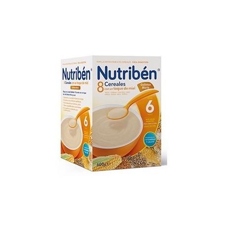 NUTRIBEN 8 CEREALES Y MIEL GALLETAS MARIA 600